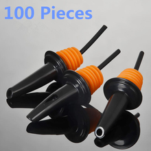 100pcs Plastic Wine Bottle Stopper Hot-sale Bar Supplies Spout Pourers