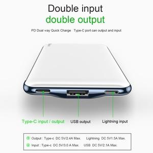 "Image 4 - Baseus 10000mAh פ""ד מהיר תשלום כוח בנק 3A מהיר טעינה Ultra Slim כוח בנק USB סוג C מטען עבור iPhone X 8 7 Xiaomi MI"