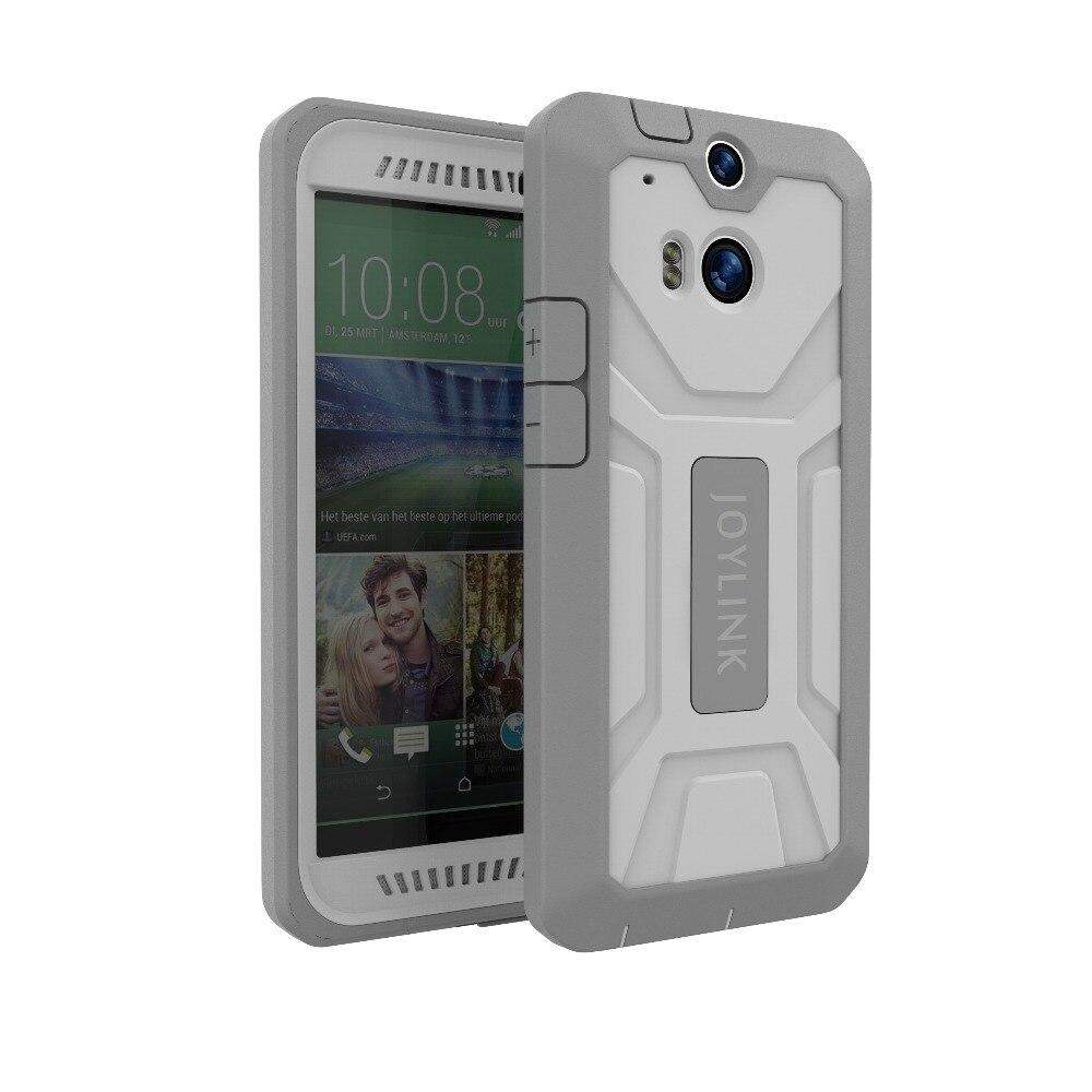 JOYLINK pesado a prueba de golpes a prueba doble capa de caso para HTC uno M8 M8s Protector de pantalla incorporado defensor armadura resistente cubierta híbrida