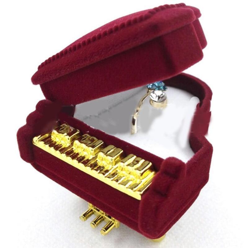 Jewery Organizer Box Rings/Earrings Storage Small Gift Box DIY craft Display Case Package Wedding/etc Creative Piano shape