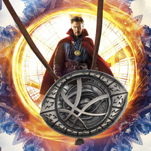 Newest Sale Doctor Strange Necklaces For Men Punk Eye Shape Pendant With Leather Cord Steampunk Long Necklace Movie Jewelry