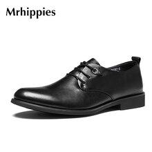 2017 брендовая кожаная мужская обувь в стиле Дерби повседневные коричневые мужские оксфорды, высокое качество мягкие кожаные туфли-оксфорды для мужчин, мужские модельные туфли
