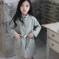 Ветровка девушки куртка девушки верхняя одежда для детей пальто и куртки детей малыша кардиган 3 ~ 15 год весна осенняя мода miaoyi