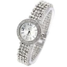 Mode Strass Bracelet En Acier Inoxydable Bracelet Montre Femmes Cadran Rond Horloge Analogique Dames Quart de Femmes Montres Relogio