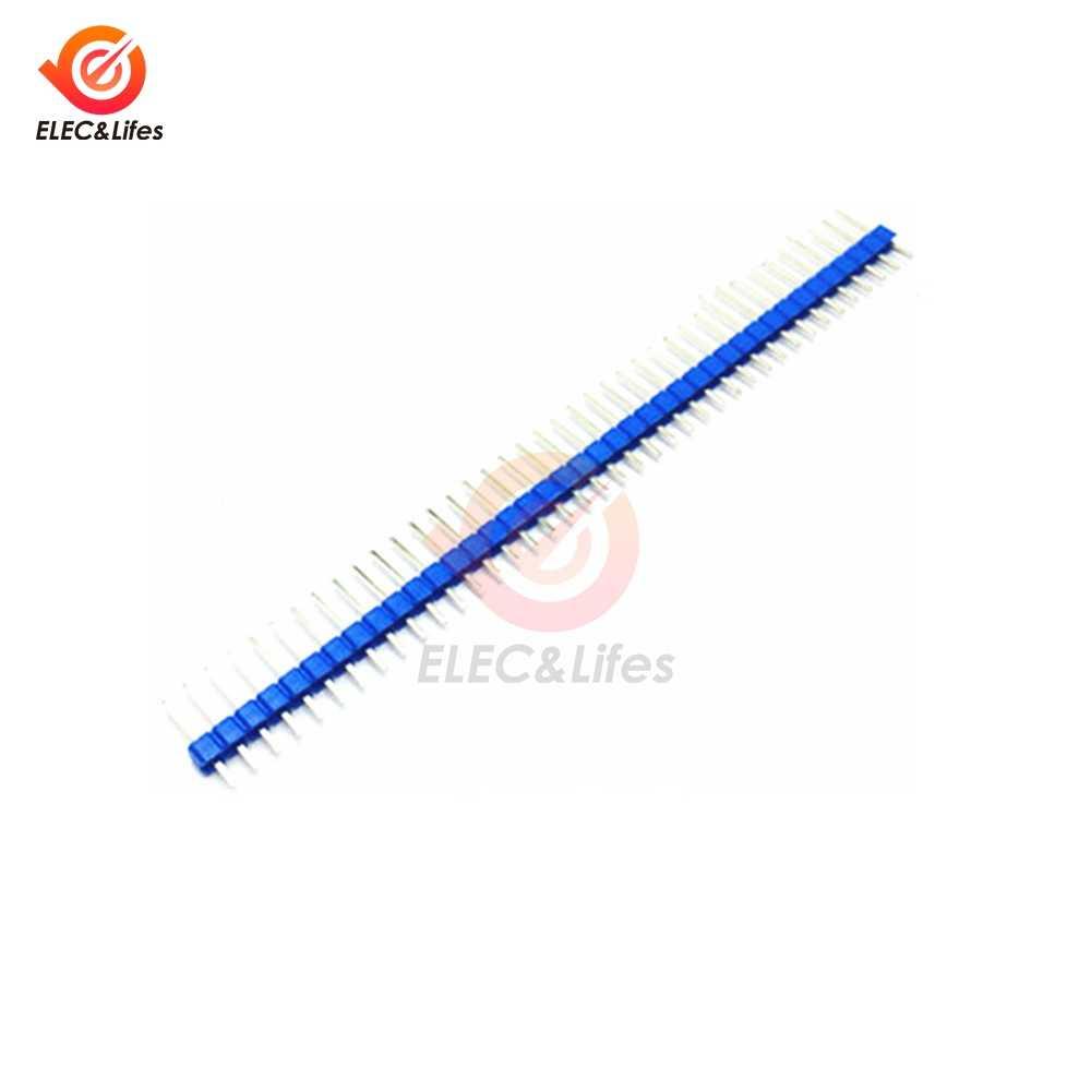 10 sztuk 40 Pin 1x40 jeden rząd męski złącze 2.54mm łamliwe głowica pinowa złącza taśmy led dla Arduino płytka drukowana DIY lutowania