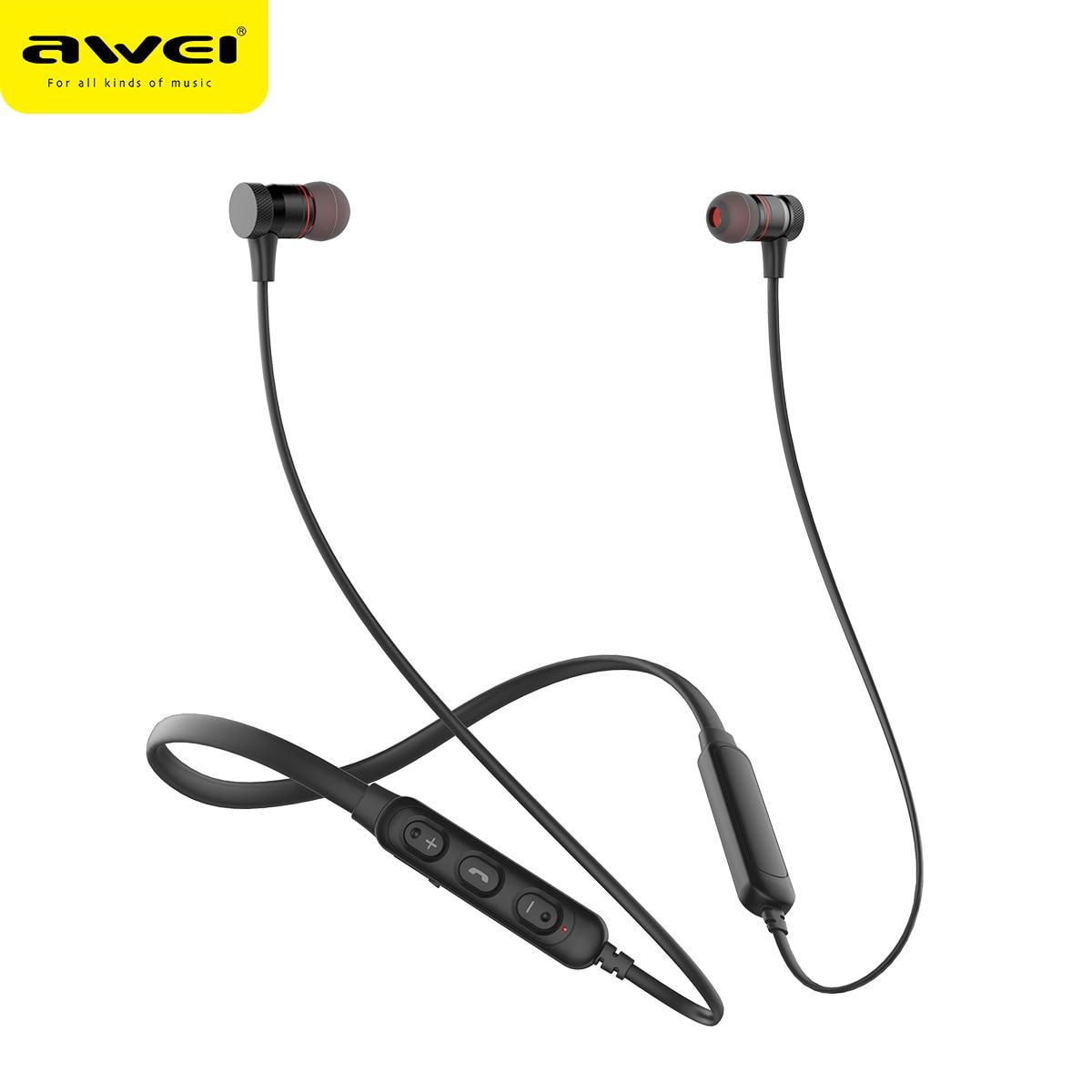 AWEI G10BL Sport Bluetooth Kopfhörer Kopfhörer 3D Stereo Kopfhörer Mit Mic Noise Cancelling Headset Fone de ouvido Bluetooth