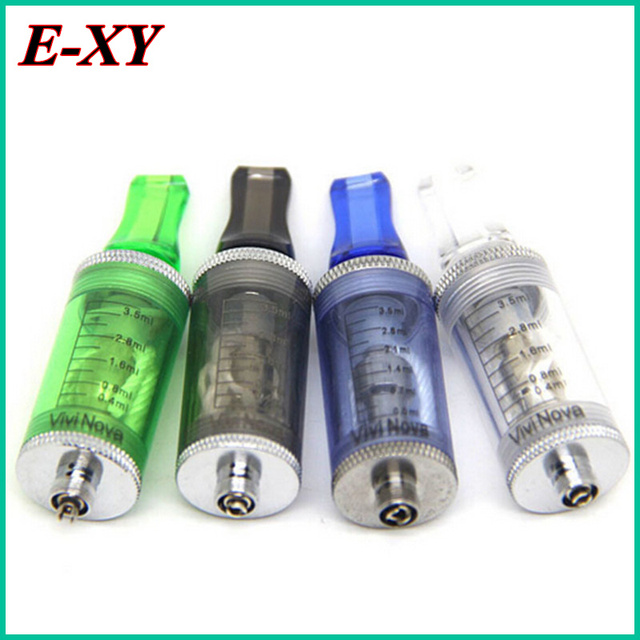 E-XY Newest atomizer 3.5ml ego tank clearomizer long wick with flat drip tips for ego-t ego-w twist vapor kit for