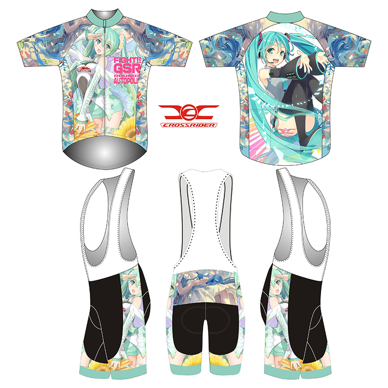 2018 short Sleeve Hatsune Miku Bicycle Cycle Clothing Mens Cycling Jersey set short Sleeve Outdoor Sports Quick Dry MTB jersey 4 topeak outdoor sports cycling photochromic sun glasses bicycle sunglasses mtb nxt lenses glasses eyewear goggles 3 colors