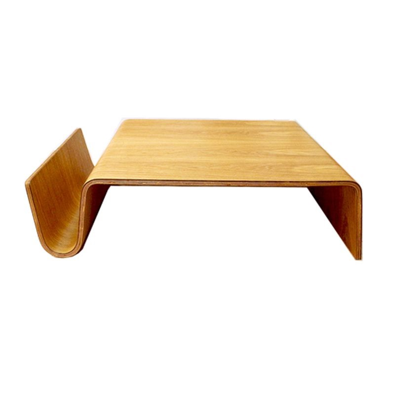 Shaping Plywood Coffee Table with Curve Books Storage / 102 x 70cm / 30cm High