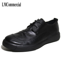 The British mens business casual dress shoes and leather spring autumn retro men cowhide breathable handmade