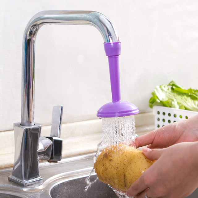 360 Degree Rotating Kitchen Sprayers Water Saving Shower Head Adjustable Tap Nozzle Kitchen Faucet Accessories Dual Water Spouts