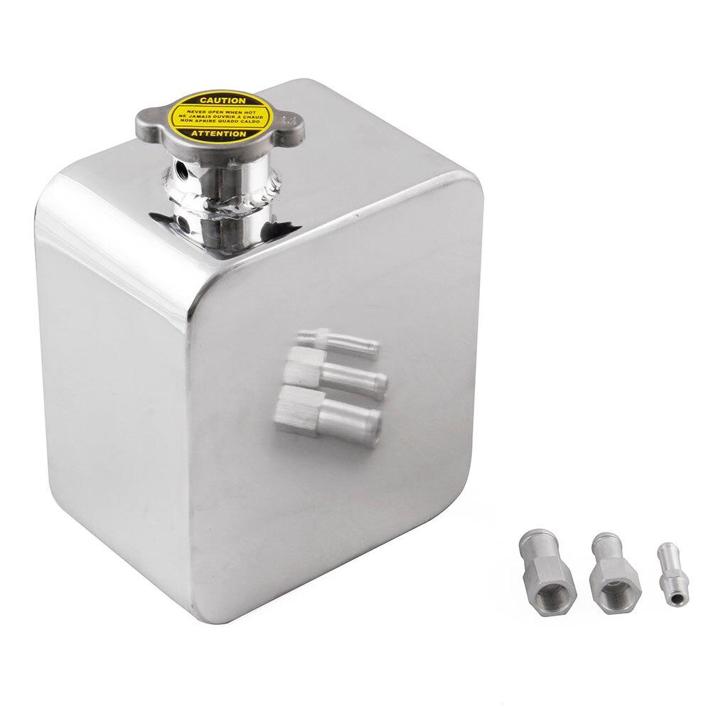 1 pc 2.5L aluminium voiture Expansion réservoir d'eau refroidissement réservoir trop-plein + bouchon Kit haute qualité 170x50mm réservoir d'eau vis accessoires - 6