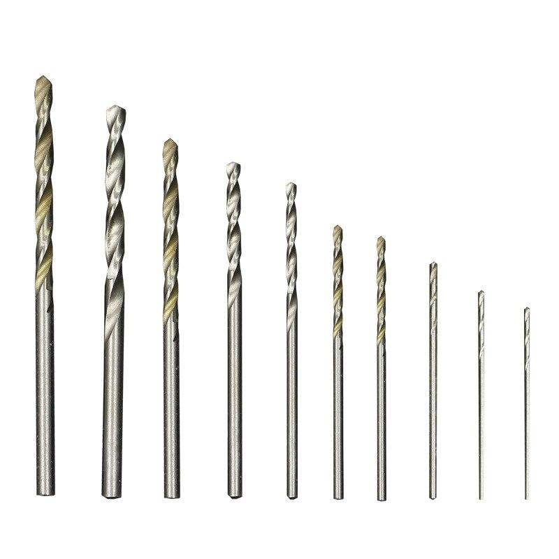 10PCS/set Steel Twist HSS Drill Bit Set 0.8mm-3mm Cobalt Straight Shank Electric Drill Bit Power Tools For Dremel Rotary Tool