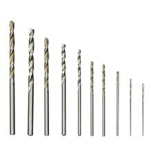 цена на 10PCS/set Steel Twist HSS Drill Bit Set 0.8mm-3mm Cobalt Straight Shank Electric Drill Bit Power Tools For Dremel Rotary Tool