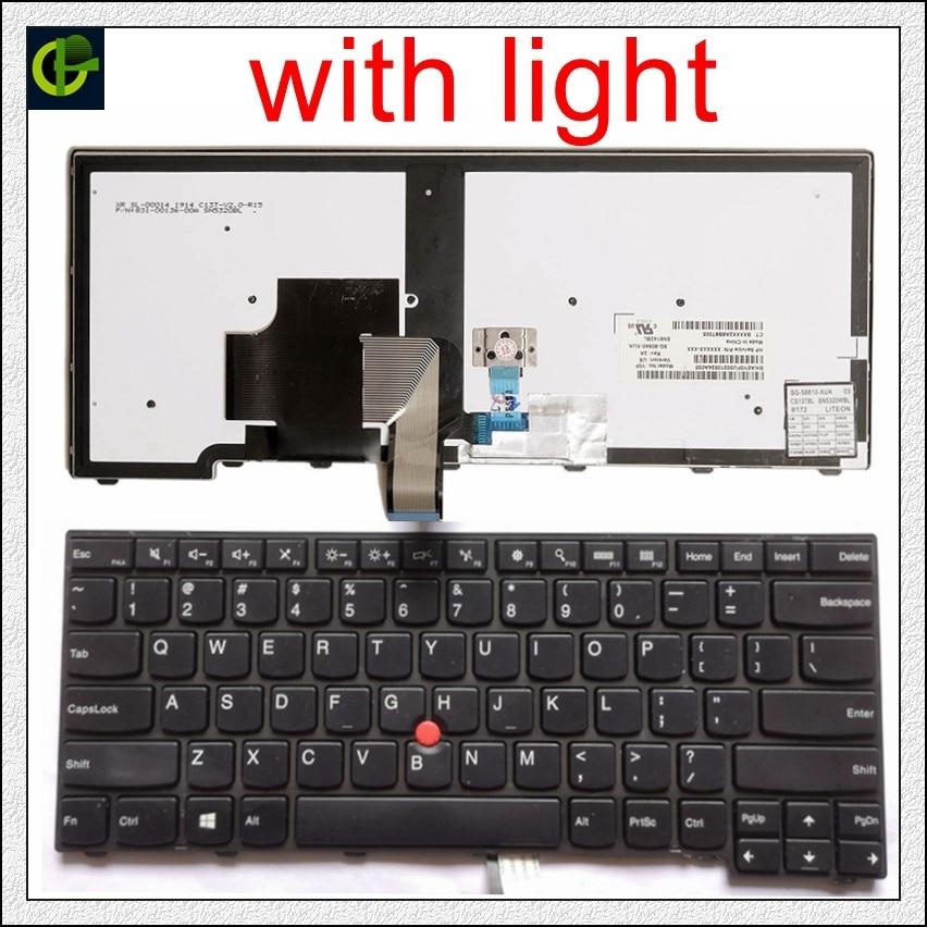 Original Rétro-Éclairé Clavier Anglais pour lenovo ThinkPad L440 L450 L460 L470 T431S T440 T440P T440S T450 T450S e440 e431S T460 NOUS