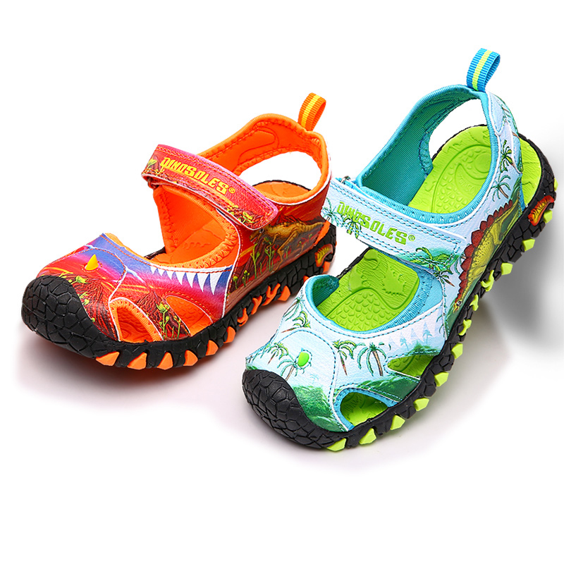 e27ed96d4ccc Detail Feedback Questions about Dinoskulls Summer Sandals Kids 3D Dinosaur  Fashion Baby Boys Shoes Cut Out Children s Beach Shoes 2019 Toddler Boys  Shoes on ...