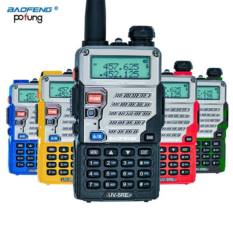 imágenes para Baofeng uv-5re walkie talkie de doble banda cb radio baofeng uv5r versión actualizada 5 w 128ch uhf y vhf radio portátil