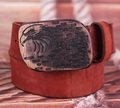 Nuevos Cinturones de Diseño Hombres de Alta Calidad De Madera Hebilla de Placa de Hebilla de Cinturón de Hombre de Lujo de Estilo Retro de Cuero de grano completo