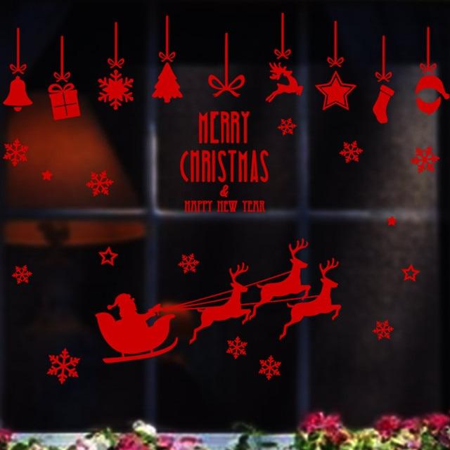 Red Weihnachtsmann Rentiere schlitten fenster shop dekoration ...