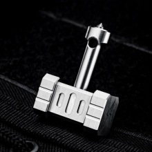 Titanium outdoor EDC tools, titanium alloy hammers, multi-function tool necklace pendants, screwdrivers, window brea
