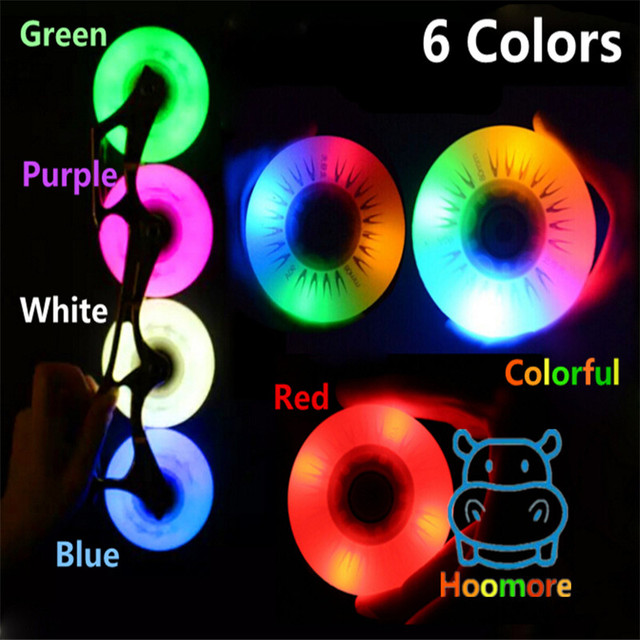 Super Bright! POWER KING 80mm 76mm 72mm 70mm Inline Skates LED Flash Wheel Red Green Blue Purple White Colorful Roller Rodas