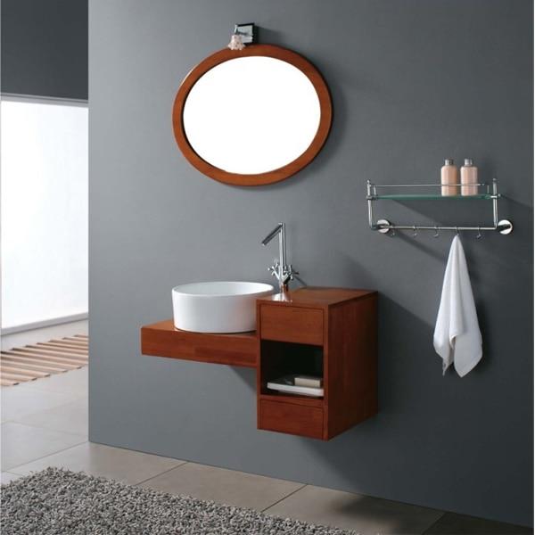 pittura di attaccatura di parete in legno massello rovere bagno ...