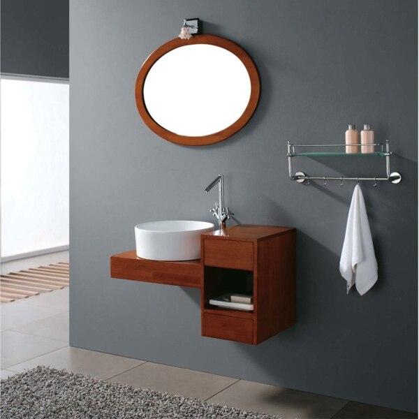Pittura di attaccatura di parete in legno massello rovere bagno vanity hs ce845 in pittura di - Smalto per pareti bagno ...