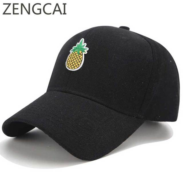 New Pineapple Dad Hats For Men Funny Baseball Cap Women Snapback Hip Hop Polo  Hats Summer Fashion Cotton Couple Embroidery Caps 40d06dc5d30