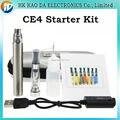 Stater Kits CE4 Atomizador Ego CE4 Cigarro Eletrônico Ego-T Bateria 650/900/1100 mah com 9 cores E-cigarro Ego Zipper Caso