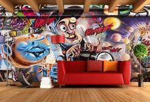 [Self-Adhesive] 3D Cartoon Creative Planet Graffiti 8 Wall Paper mural Print Decal Murals