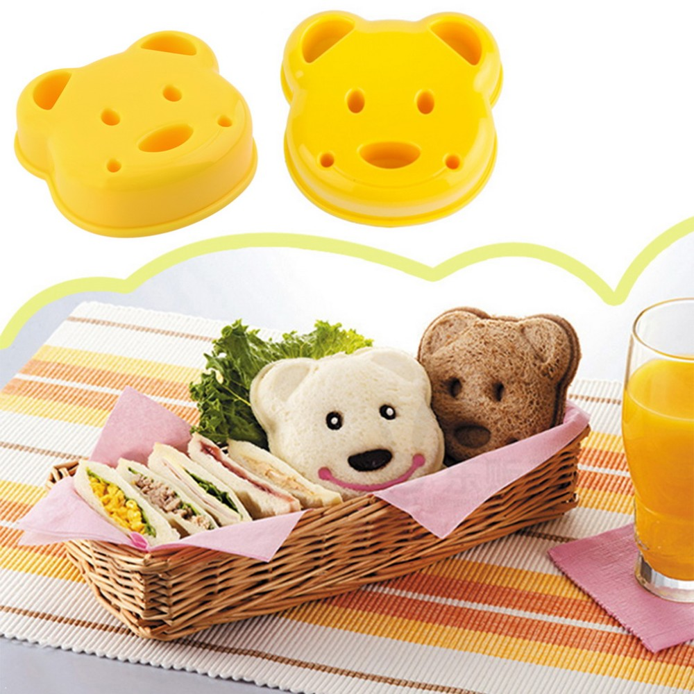 Details about Lovely Bear Plastic Sandwich Bread Toast Cookie Cake Mold Cutter DIY Tool