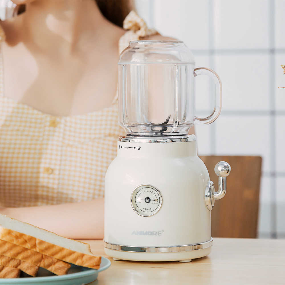 Liquidificador Espremedor ANIMORE Retro Milkshake de Comida para Bebé Moedor de Carne Misturador Multifuncional Suco de Fruta Máquina do Fabricante De Liquidificador Portátil