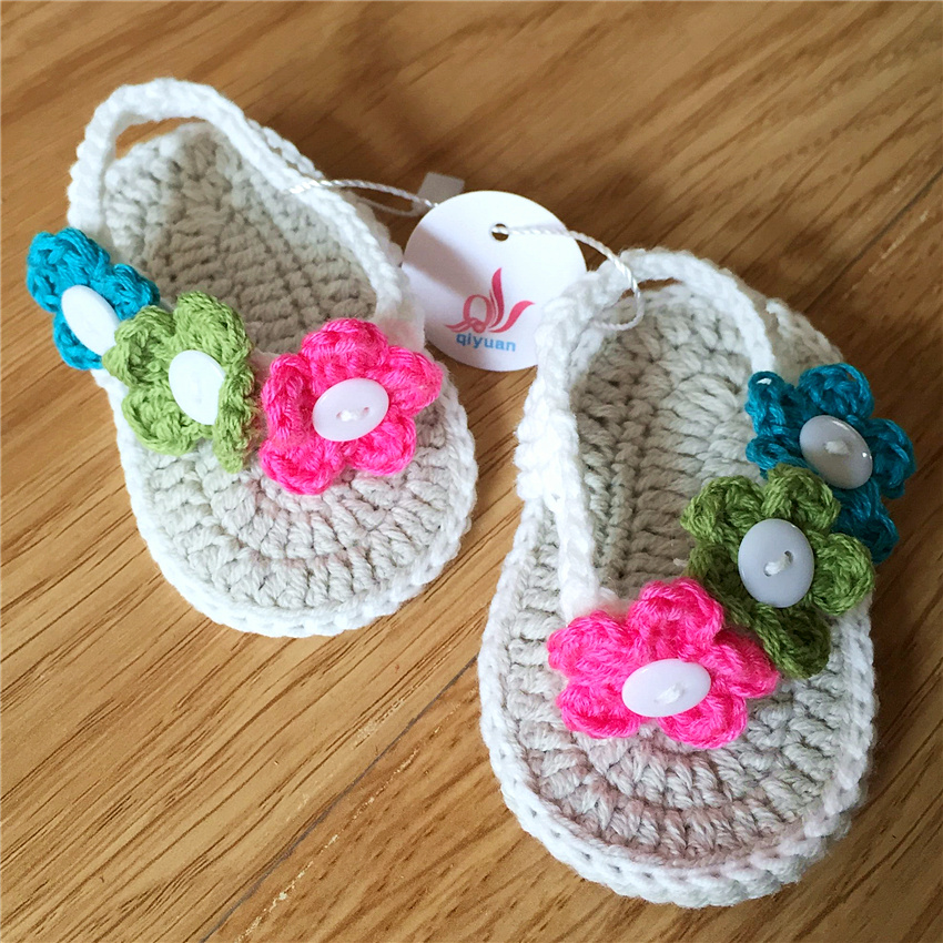 QYFLYXUE Free Shipping  Novel Baby Flip-flops, Made-to-order Babies Shoes Multicolor Flower