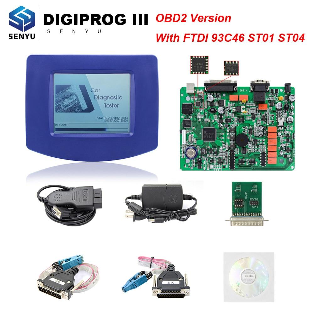 DIGIPROG 3 V4.94 Digiprog III Full Chip ST01 ST04 OBD OBD2 Odometer Milage  Correction Tool ECU Programmer DIGIPROG3 Programmer