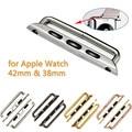 1 Par 38mm 42mm Sin Soldadura Conector de Acero Inoxidable Reloj de La Correa del Corchete Hebilla para Apple Adaptador Negro/oro/Plata/Oro Rosa