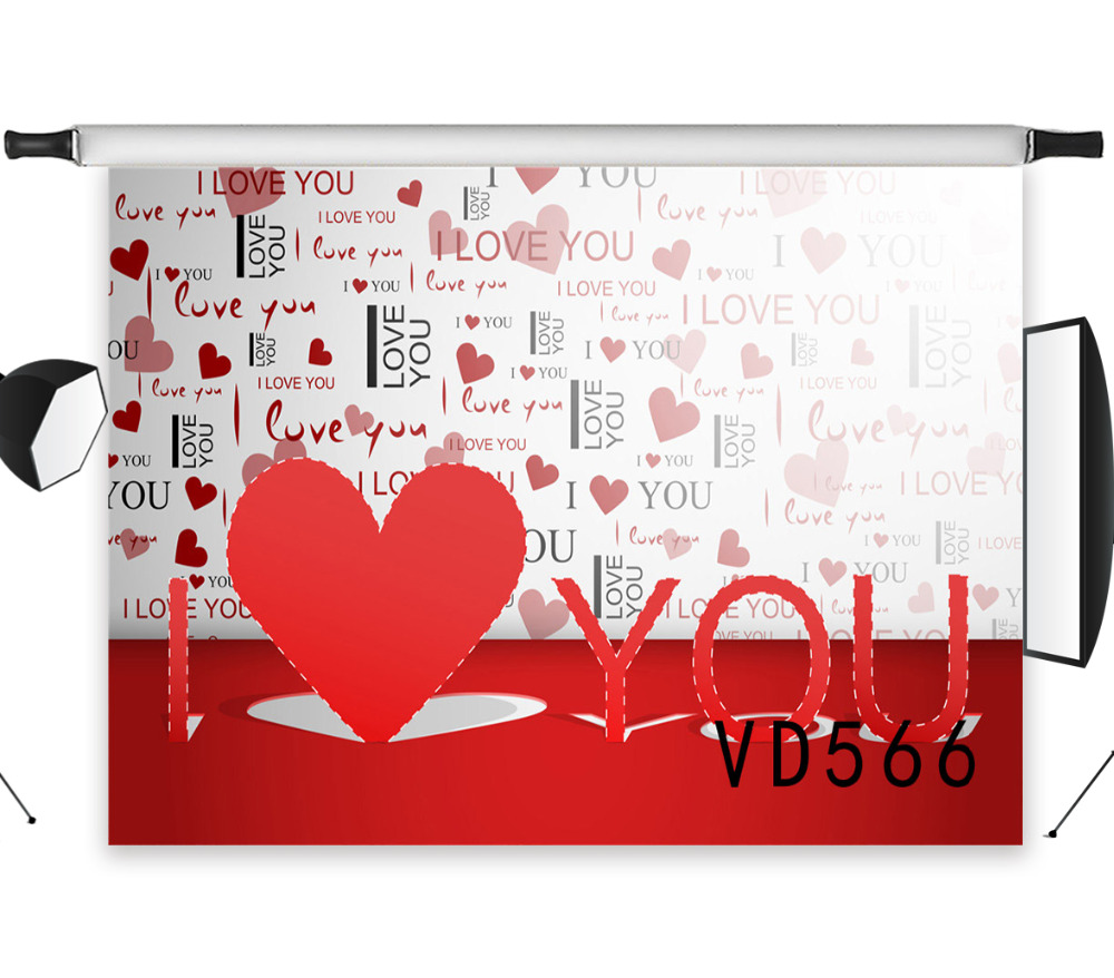 Orderly Lb 7x5ft Valentines Day 3d Cardboard Red Love Shape Seamless Washable No Folds Polyester Backdrop Background Photography Studio To Enjoy High Reputation At Home And Abroad Camera & Photo Photo Studio