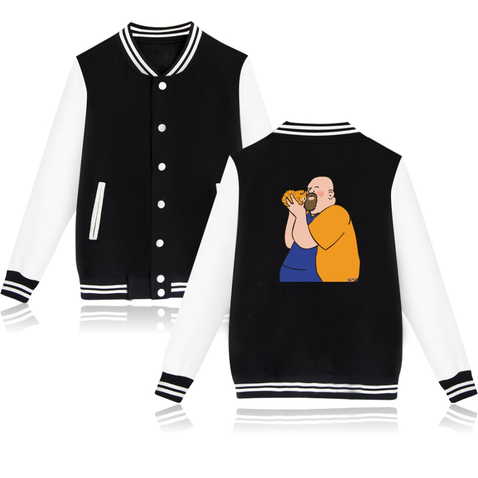 Trendy Picture Father-in-law With Funny Cat Coat Winter Jacket Women Baseball Jackets Fashion Clothers Plus Size