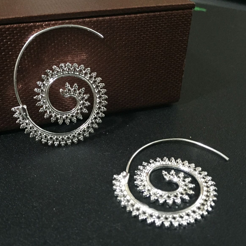 2017 Trendy personality round spiral earrings exaggerated whirlpool gear earrings for Women T5063