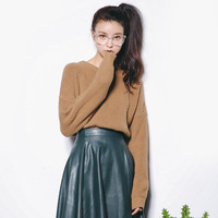 2017 Autumn New Sweater Korean Elasticity Was Thin Round Collar Slim Shirt Female A369