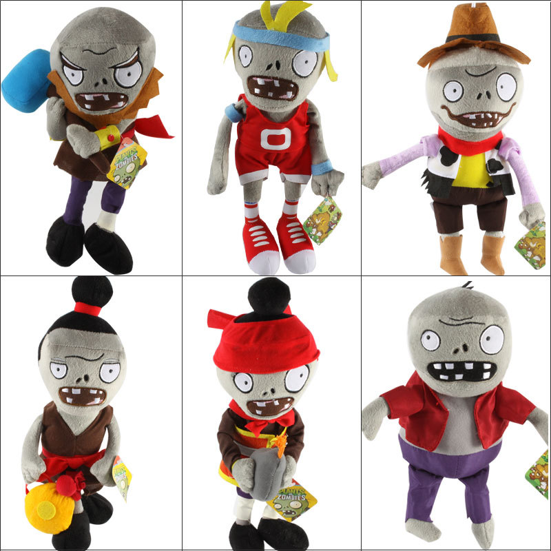 New Arrival Plants vs Zombies Plush Toys 30cm PVZ Zombies Plush Soft Stuffed Toys Doll Game Figure Statue Toy Gifts for Kids hot plants vs zombies plush doll toys 30cm pea shooter sunflower squash stuffed doll figures toys children kids gift