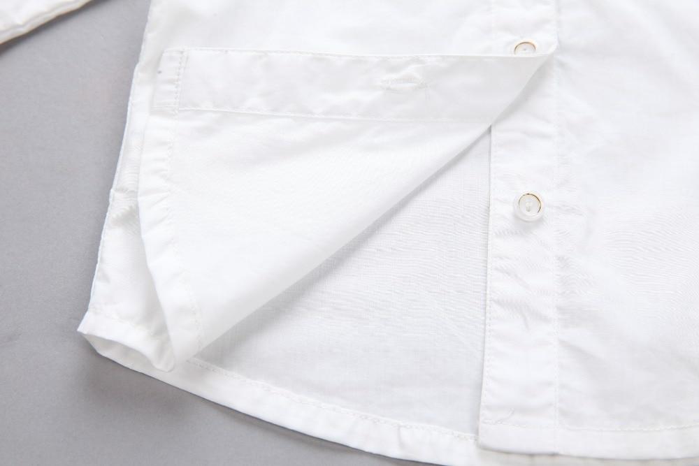 0622fa676 € 14.41 |2017 del otoño del resorte de ropa para niños niñas blusa blanca  solid algodón de manga larga niña blusa para niños causales de la ...