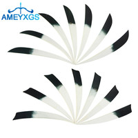 50Pcs 5 Archery Feathers Arrow Fletches Natural Turkey Fletching Drop Shield Cut Shape DIY Tools Hunting Shooting Accessories