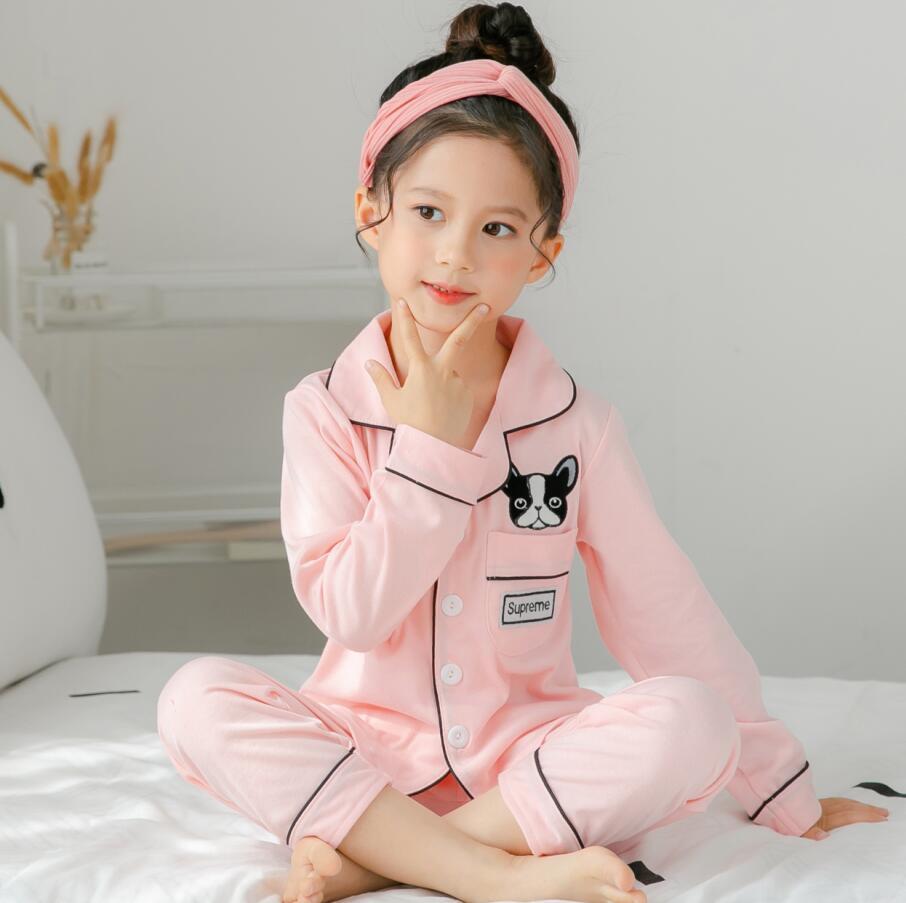Summer Autumn Girls Boys Fashion Silk Pajamas Sleepwear Soft Pajamas Kids Children Long Sleeve Tops Pants 2-12year Home Sports