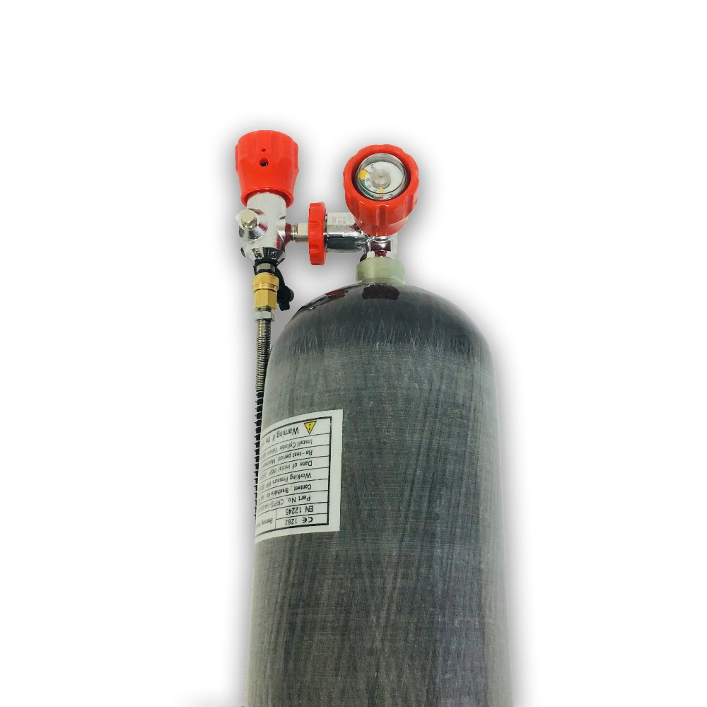 AC168101 6.8L Carbon Fiber Dive Tank Paintball Tank Cylinder Compressed Air Compressed Air Rifle Cylinder Diving Mini Scuba
