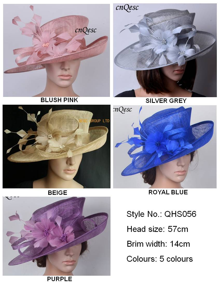 Sinamay Hats Fascinators Church hats for races wedding melbourne cup kentucky derby beige crocus cobalt blue