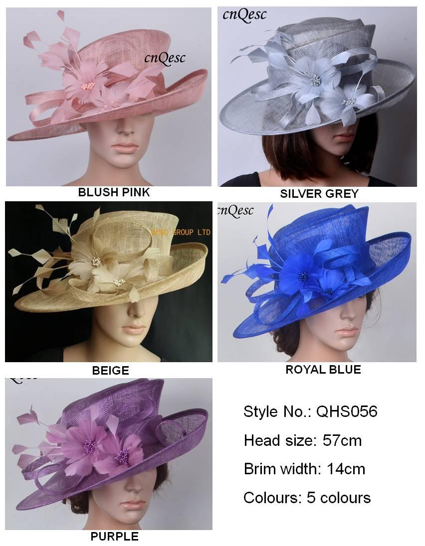 Sinamay Hats Fascinators Church hats for races wedding melbourne cup kentucky derby beige crocus cobalt blue