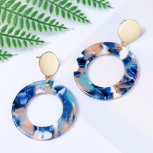 Round Resin Earrings for Women Geometric Earings 2019 Bohemian Fashion Jewelry Romantic Accessories Gift Wholesale