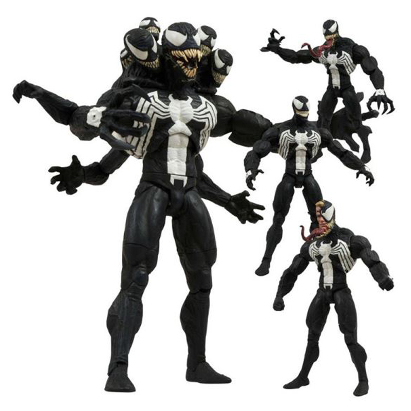 <font><b>Marvel</b></font> <font><b>Select</b></font> Villain <font><b>Venom</b></font> <font><b>Action</b></font> <font><b>Figure</b></font> 7 Inch 18cm with Head and Hand can Replaced <font><b>Action</b></font> <font><b>Figure</b></font> Models Toys for Gift