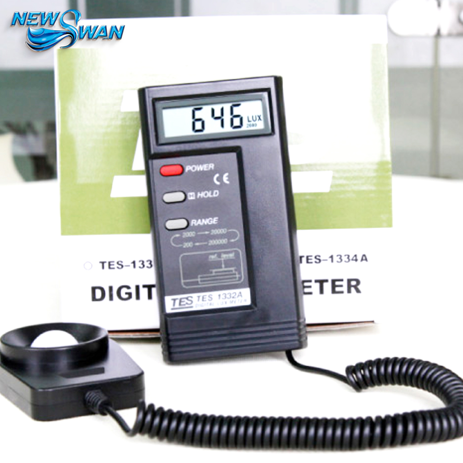 TES-1332A Digital Lux Light Meter Photometer Portable Thermometer 100% original as813 lux meter digital light meter lumen meter photometer 1 100 000lux