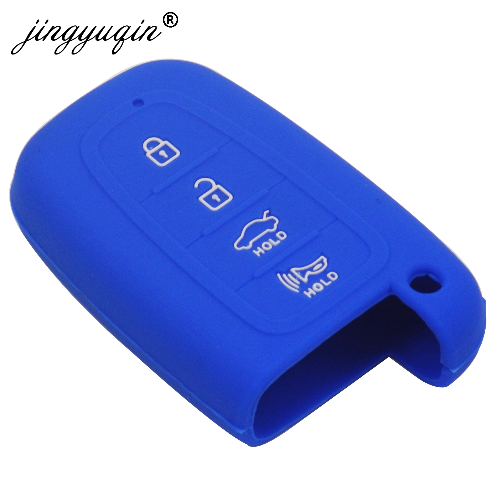 Image 4 - jingyuqin 4 Button Silicone Key Case for HYUNDAI Elantra Sonata Veloster for Kia Soul Sportage Car Remote Smart Fob Cover-in Key Case for Car from Automobiles & Motorcycles